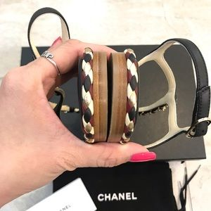 CHANEL Shoes - {ChANEL} Braided Flat Sandals Size 39